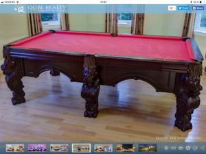 TABLE DE BILLARD UNIQUE ( AUBAINE ) WOW !!! 514-321-7867 .