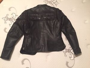 Ladies leather biker jacket brand new Strathcona County Edmonton Area image 2