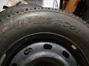 4 hankook Winter Tires + rims 205/70R15 - 1 Year old Edmonton Edmonton Area image 6