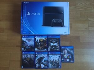PS4 with 7 games for sale