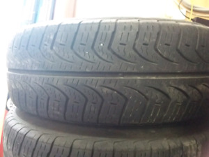 Pirelli P185/65R14 tires and steel rims (off of 2001 Corolla)