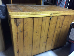 Large hand crafted pine/cedar chest