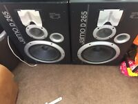 Jamo D 265 speakers 265watts each