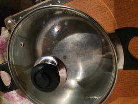 Saucepan with lid. Surbiton cash collection