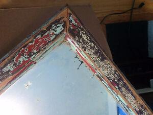 """Antique Mirror & Wooden Frame  26.5""""  x  16.5"""""""