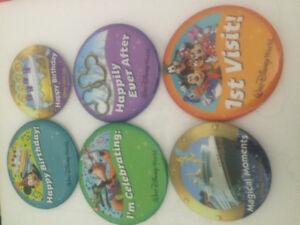 New Walt Disney World and Disney Cruise Line Buttons