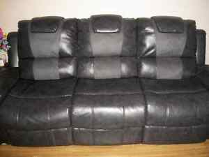 Leather Sofa Recliner $500.00 Firm  No Rips or Tears. or Fading