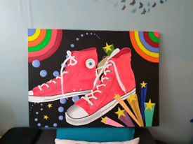 Acrylic Canvas painting(Wonderland) Pop art