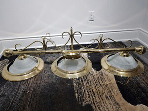 Pool table brass gold finish  light fixture