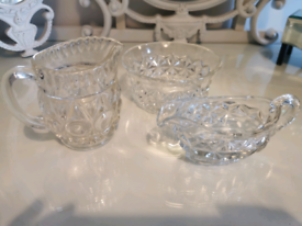 Selection of glassware vintage some crystal.