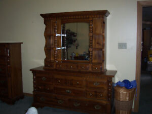Dresser and mirror top.