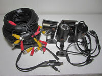 Set of 4 Liview 600 TV-Lines bullet cameras + BNC cables