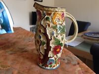 hand painted Indian tree jug
