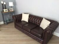 Chesterfield leather 3 seater