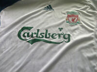 Liverpool soccer jersey white size mens XL