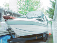 BAYLINER cabin cruiser with trailer doubles axle
