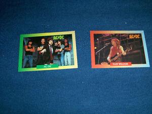 AC/DC-2 VINTAGE ROCK CARDS-BROCKUM-1991-ROCK & ROLL-RARE!