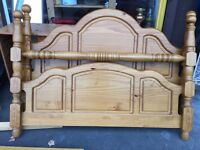 Solid Pinewood Double Bed Frame