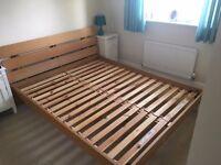 Modern continental Queen size bed frame. Fits mattress size 160cm x 200cm