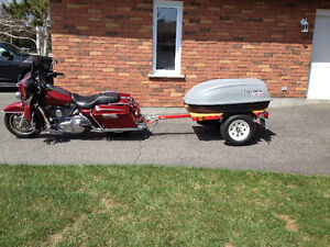 Motorcycle Trailer, Harley Trailer Hitch, and Harness