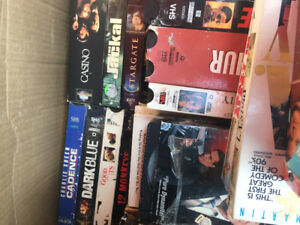2 big boxes of VHS movies of all kinds