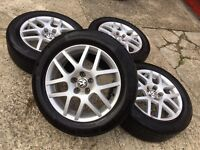"GENUINE VW 16"" BBS MONTREAL 2 GOLF BORA MK4 ALLOYS W/TYRES SEAT SKODA IBIZA POLO - SLOUGH"