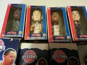 DETROIT PISTONS BOBBLEHEADS AND ORNAMENTS,$80 FOR ALL 8 Windsor Region Ontario image 3