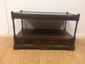 Vintage 2 tier coffee table with 2 drawers