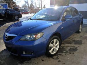 2008 Mazda 3 (blue, 180K, standard transmission)