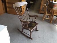 20% OFF ALL ITEMS SALE - Wooden Rocking Chair Ideal For Nursing - Can Deliver For £19