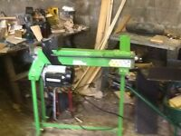 Log splitter with kindling attachment