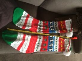 2 Christmas stockings for hanging by the chimney!
