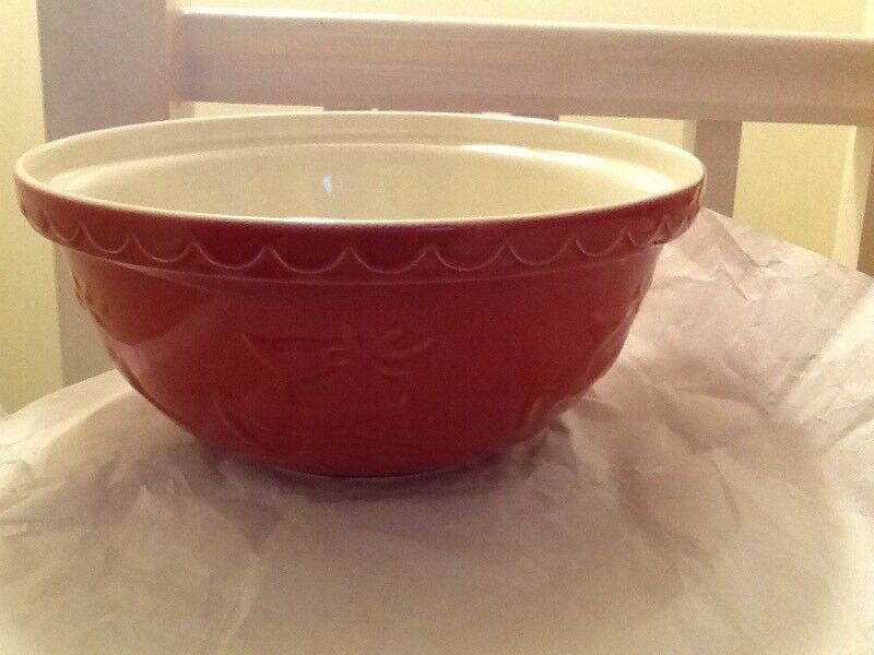 🎄🌟☃ beautiful Mason Cash Xmas mixing bowl flying reindeer New