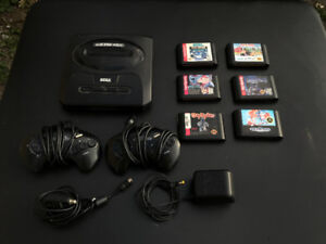 Sega Genesis (Console, 2 Controllers, cables, and 6 games)