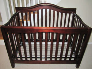 Solid Cherry Wood Crib, Dresser, Mattress and Cover