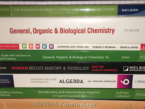 Fanshawe pre-health textbooks excellent condition