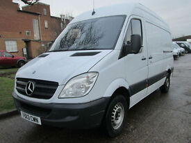 2013 Mercedes Sprinter 2.1TD 313CDI MWB HIGH ROOF. FINANCE FROM £165 PER MONTH