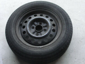 Set of four rims with tires