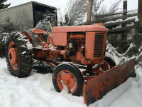 Case Tractor with front Snowblade