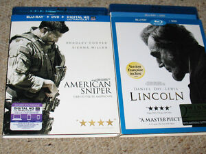 Blu ray combo of-- American sniper & Lincoln