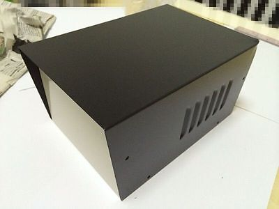 9x 6x4.8 Black Diy Metal Electronic Project Box Transformer Enclosure Case