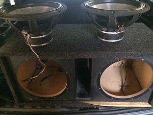 """12"""" mtx audio subs with box 150$"""
