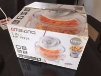 Ambiano - 2 in 1 Air Fryer - White - 1300w