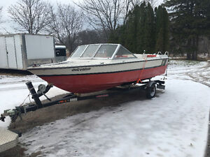 1973 Starcraft 16 foot boat with newer trailer ( no pay pal )