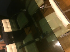 Inox table and chairs