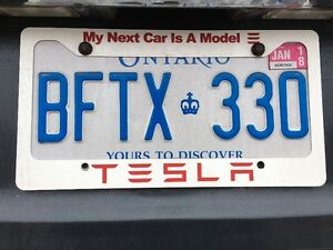 Tesla Model 3 License Plate Cover