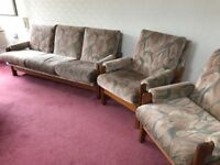 3seater sofa bed and 2 chairs excellent condition free free free