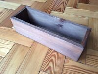 Wooden boxes - ideal for wedding table flowers