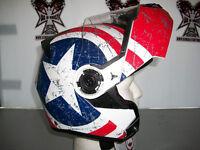 TORC Matt White Rebel Star Avenger, Modular With Sun Lens.