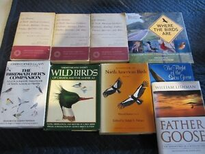17 VARIOUS BOOKS ABOUT BIRDS.